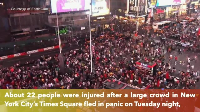Motorcycle backfires as gunshots cause hundreds in Times Square to run for their lives