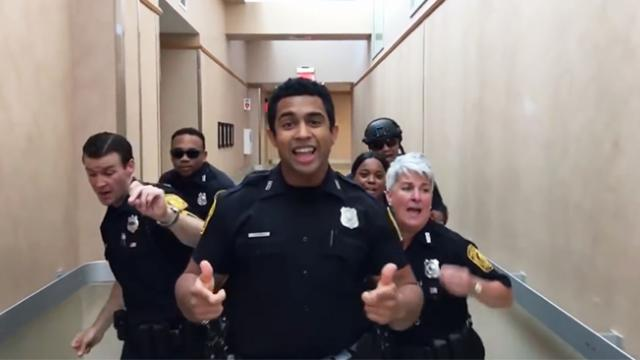 Cops absolutely bring down the house with a lip sync challenge video that went viral overnight