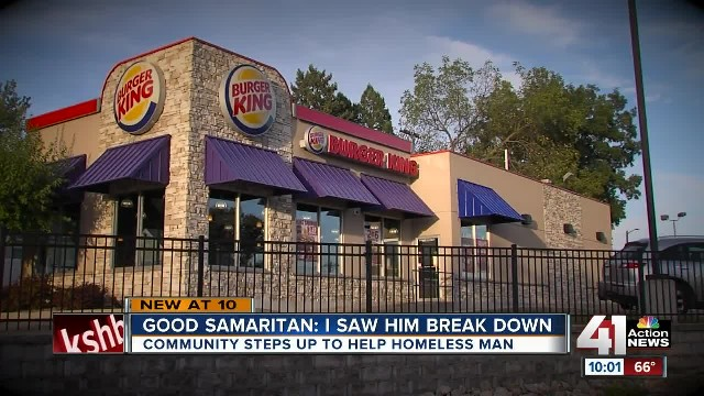 Homeless man sobbing in Burger King doesn't know a stranger put photo on facebook to save him