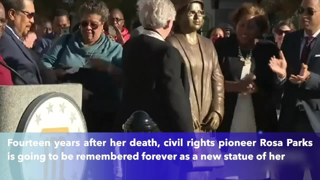 Alabama honors Rosa Parks with statue on 64th anniversary of bus protest