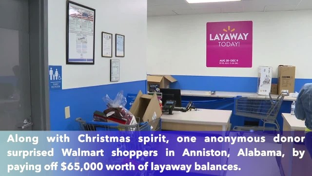 Secret Santa pays $65,000 for Christmas layaway gifts at Walmart