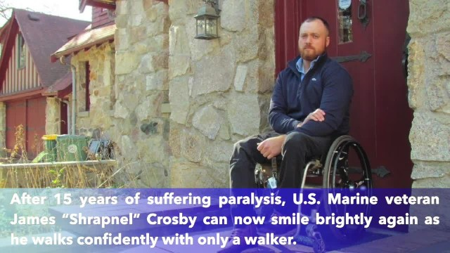 US Marine paralyzed in Iraq walks again after 15 years