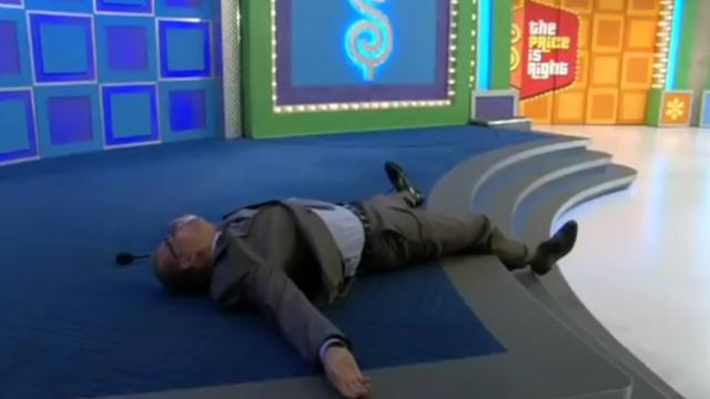 Drew Carey falls - The price is right
