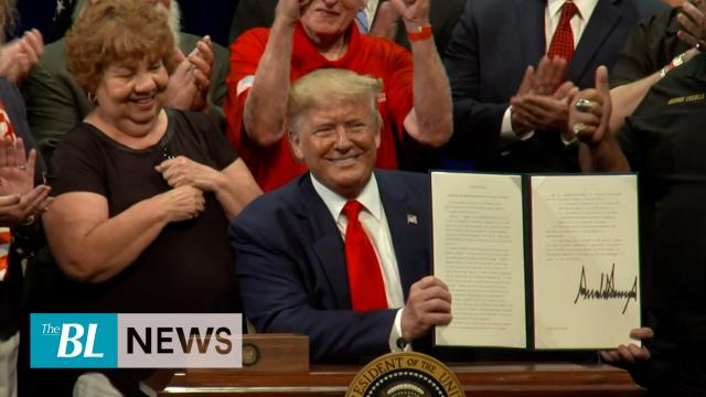 --President Trump signs executive order for Medicare, slams Democrats