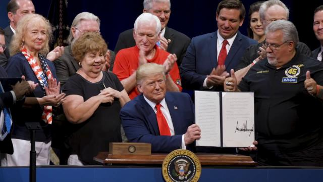 President Donald Trump Signs an Executive Order Protecting Medicare