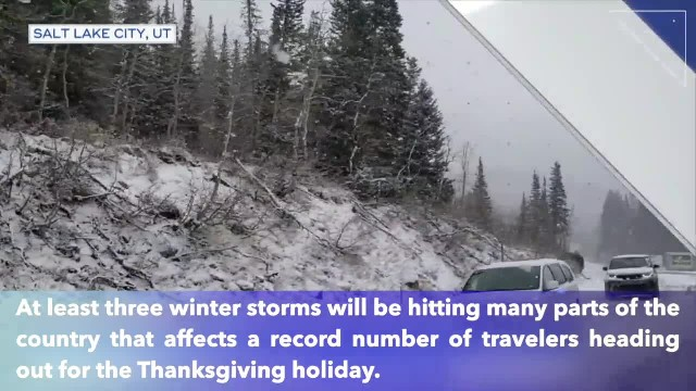 3 winter storms could affect millions of Americans travelling for Thanksgiving holiday
