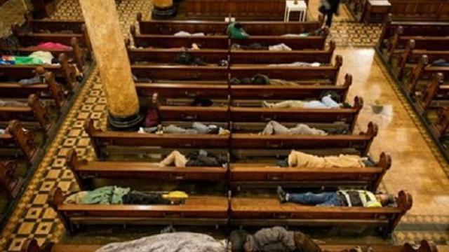 Church opens doors to 225 homeless people, letting them sleep inside every night