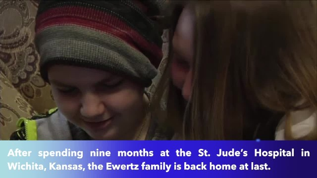 12-year-old Kansas boy returns home cancer free after nearly a year at St. Jude's Hospital