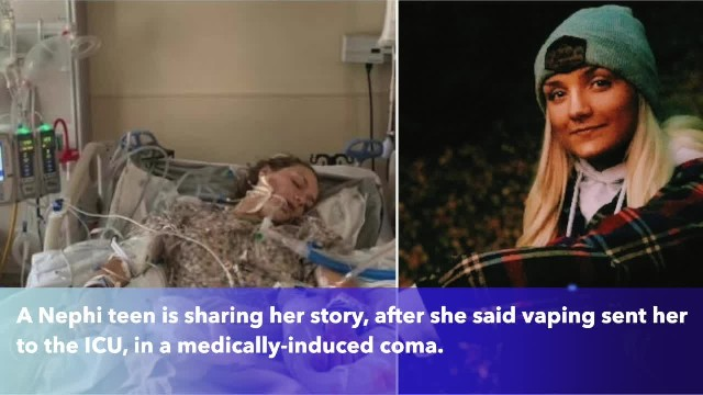 Utah teen wakes up from coma after 4 nights, diagnosed with lung disease and will 'never touch a vap