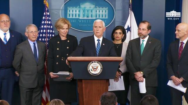 Vice President Pence and Ambassador Deborah Birx conduct a briefing on the Coronavirus