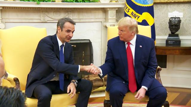 President Trump Participates in a Meeting with the Prime Minister of the Hellenic Republic