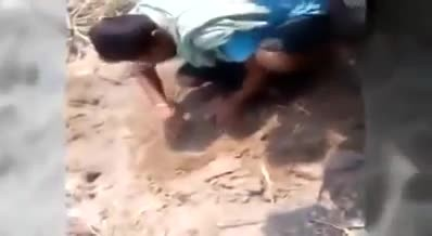 Newborn baby rescued after father buried her alive in sandpit