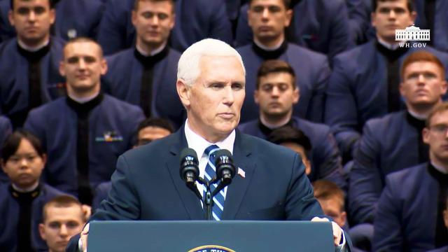 Vice President Pence delivers remarks to the South Carolina corps of cadets