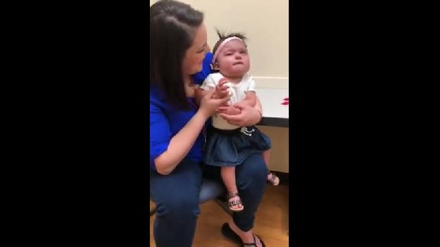 Deaf baby hears mother's voice for the first time: 'It's the best mother's day gift'