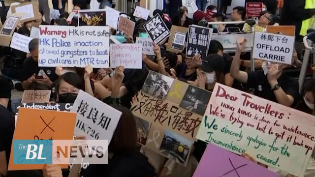 Hong Kong activists stage protest at international airport