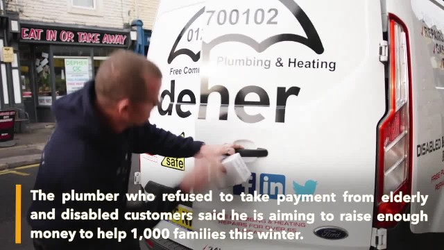 Plumber who provides free work to elderly aims to help 1000 families this winter