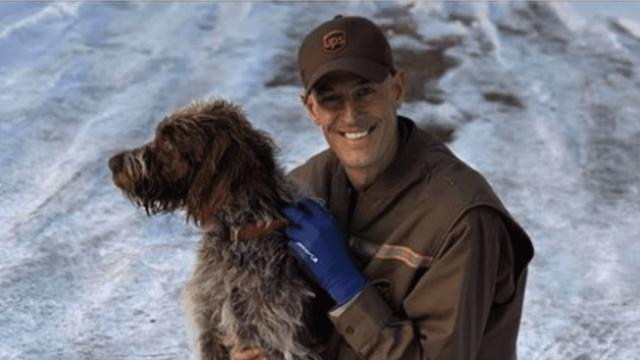Hero UPS driver jumps into icy pond to save drowning dog