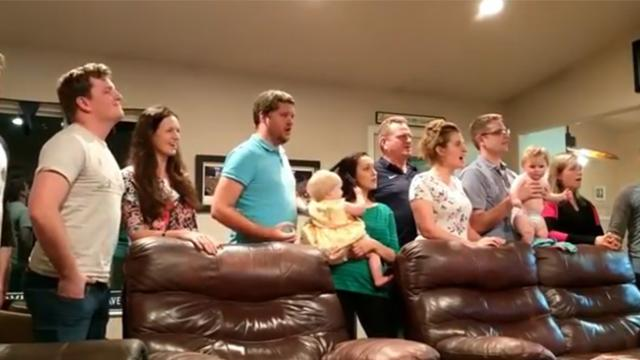 Family gathers to sing karaoke of 'Les Miserables'