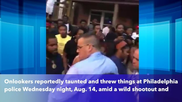 Philadelphia police pelted with objects, taunted amid harrowing shootout during standoff in Nicetown