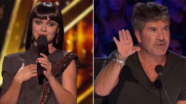 "Beautiful woman's unique acts earns golden buzzer with Simon exclaiming ""you are one of the best con"