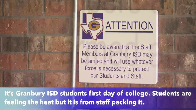 Granbury ISD begins first school year with armed staff members