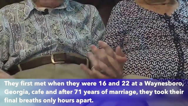 Georgia husband and wife married for 71 years, took final breaths on same day