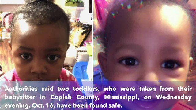 Amber Alert canceled, toddlers missing out of Mississippi found safe