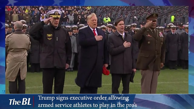 Trump signs executive order allowing armed service athletes to play in the pro's