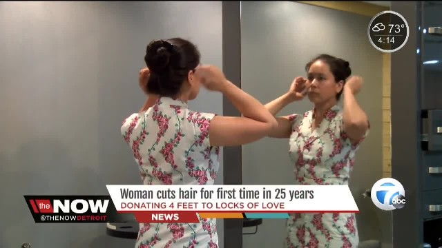 Her Friends Nagged Her To Cut Her Hair For 25 Years. When She Turns Around? WOW.
