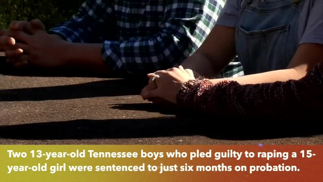 Two 13-year-old Tennessee boys convicted of rape get only 6 months probation
