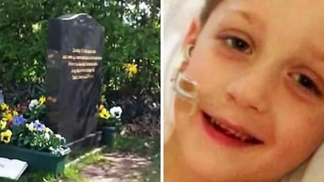 "Grieving mother visited her son's grave. She received a ""Sign"" from the sky"