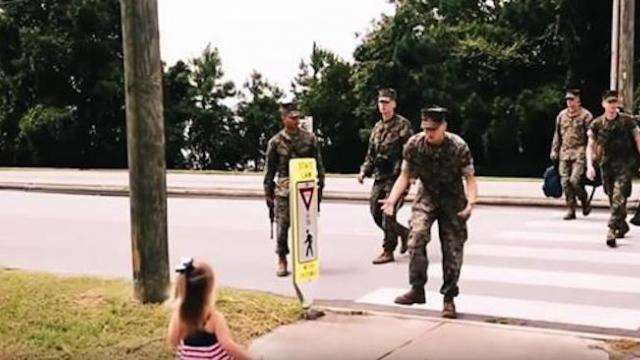 Mom fears her two-year-old won't recognize soldier dad, films the cutest reunion ever