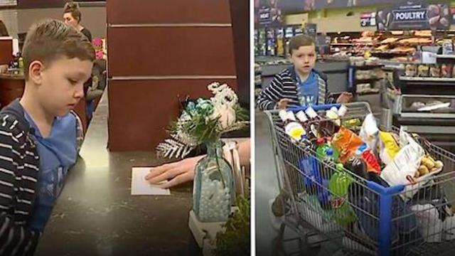 4th grader goes into bank, tells clerk to empty his life savings so he can shop for the homeless