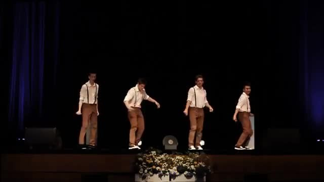 4 teens groove along to 60's song but watch their moves when music suddenly changes