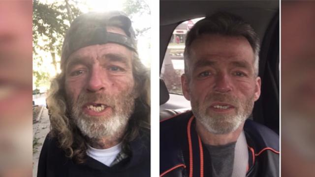 Couple drives 600 miles to reunite homeless man with family