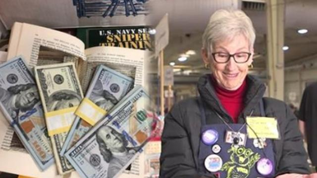 Volunteer finds stacks of cash totaling $4,000 in hollowed out book, tracks down owner