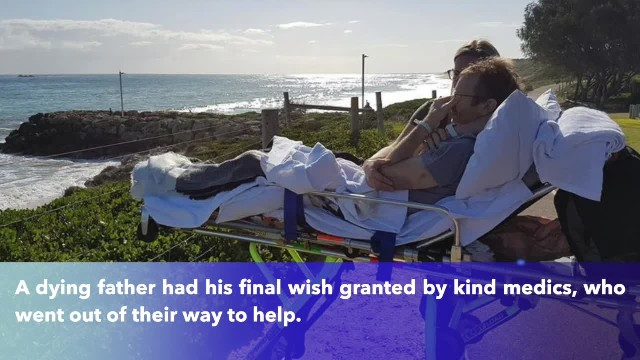Dying father sobs as he visits treasured beach after asking to pull over and see it one last time on