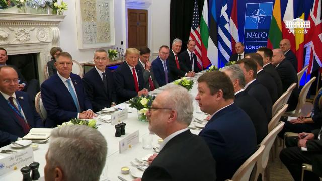 President Trump Participates in a Working Lunch with the NATO 2 Percenters