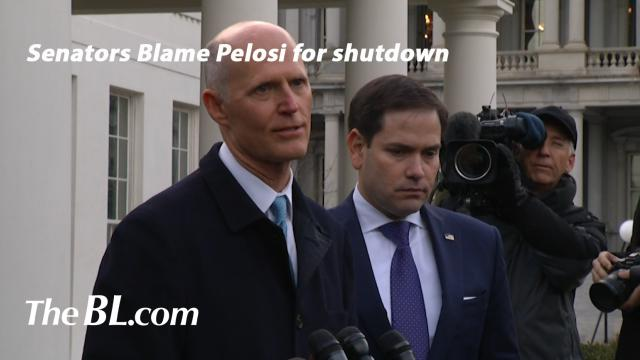 The BL news-Senators Blame Pelosi for shutdown