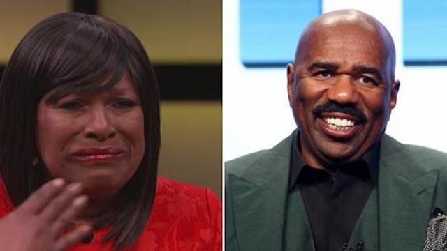 Woman who spends hundreds from own pocket each week to feed homeless surprised by Steve Harvey