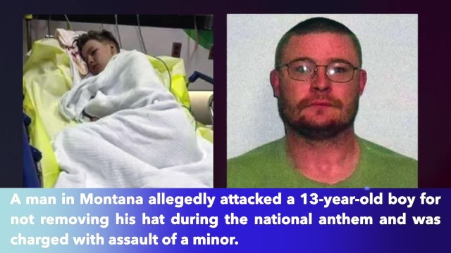 Montana man charged with assaulting 13-year-old boy for not removing his hat during national anthem