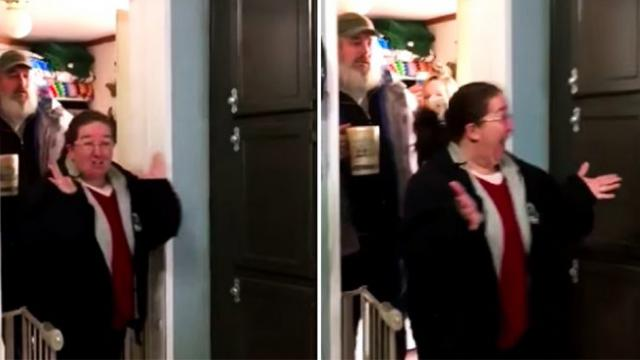 Parents return to an unexpected sight after leaving four daughters home alone