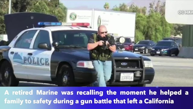Retired Marine helps woman, 2 children get to safety as their car is hit by gunfire in California