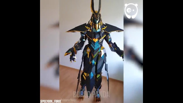 Watch the video of the amazing costume in action