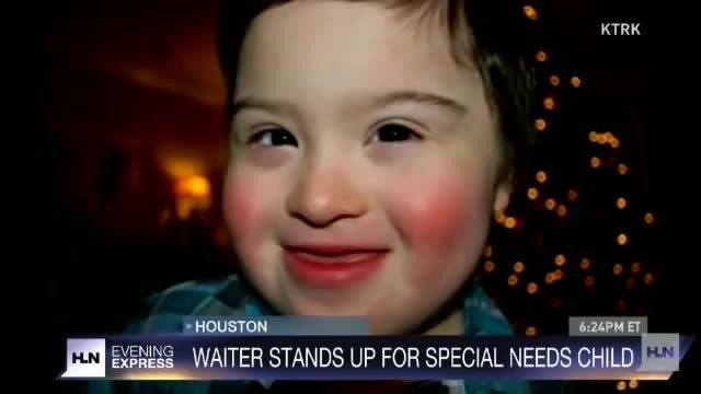 During a family dinner at a restaurant, their son (with Down syndrome) was insulted, but then, brave
