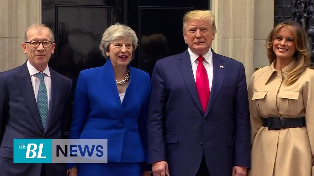 President Trump Meets UK Prime Minister May, Talks Trade and Concerns about China
