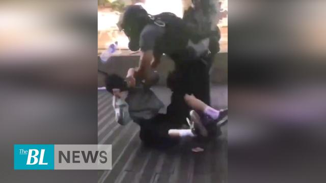 Hong Kong police brutally arrest a young protester near PolyU
