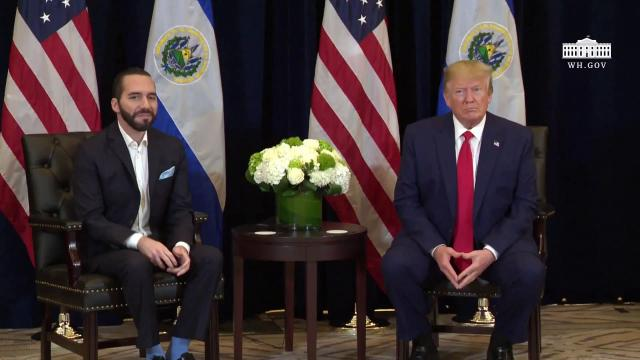 President Trump Participates in a Bilateral Meeting with the President of El Salvador