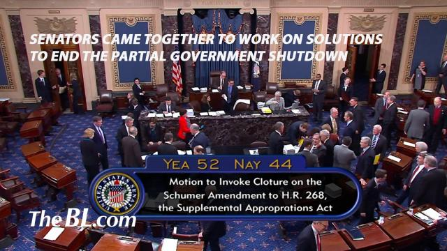 The BL news-Senators came together to work on solutions to end the partial government shutdown