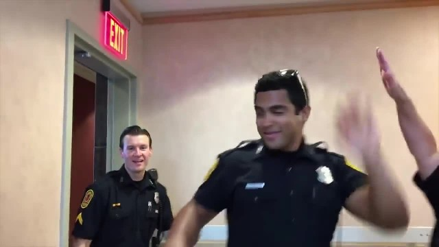 Cops absoluately brings down the house with a lip sync challenge video that went viral overnight